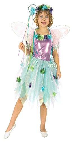 [Girls Garden Fairy Kids Child Fancy Dress Party Halloween Costume, S (4-6)] (Girl Marvel Character Costumes)