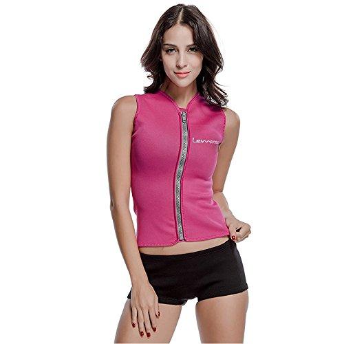 Lemorecn Women Wetsuits Top Premium Neoprene 3mm Zipper Diving Vest