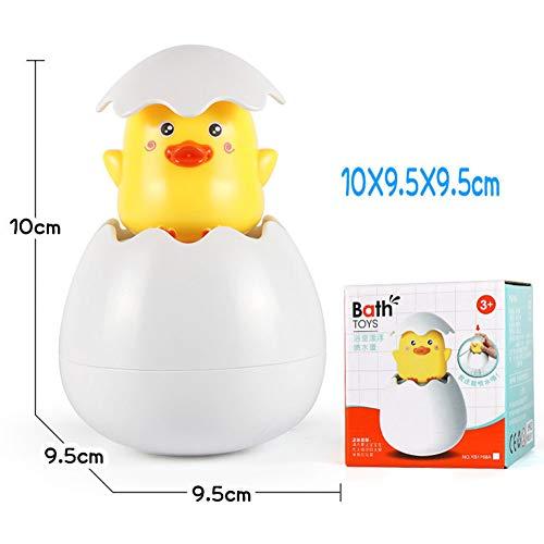 Faironly Baby Bathing Toy Duck Penguin Egg Shape Water Spray Sprinkler Tool for Kids Supplies Duckling Box 125g