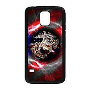 jhgnbhgcd-571 Special & Simple Design USMC Marine Corps Hard Plastic Case Cover for Samsung Galaxy S5 with Image Black 021401