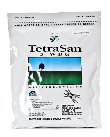 Tetrasan 5WDG Miticide - 1 pound (Packaged as 8x2 ounce pkgs) by Valent Professional Products