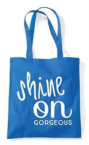 Shopper Shine Simple Bag Tote Sapphire Statement On wZZ8r5Xqx7