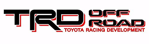 Noa Store Toyota TRD Truck Off Road 4x4 Toyota Racing Tacoma Decal Vinyl Sticker (Black/RED)
