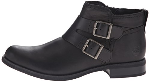 Savin Smooth Boot Women's Timberland Double buckle Hill Ankle Black 5Sxx8