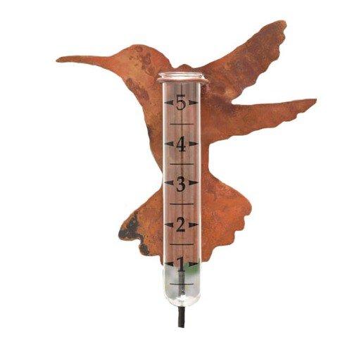 Ancient Graffiti Solid Copper Hummingbird Rain Gauge