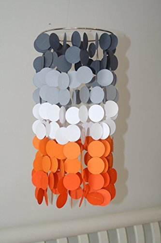 Orange and Gray Ombre Crib Mobile