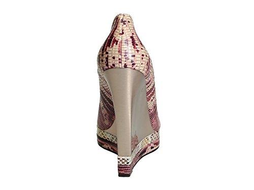 AW5E2MYERP7A Lanvin Femme Multicolore Compensées Chaussures Cuir vfR8wxfqU