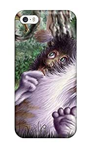 Slim Fit Tpu Protector Shock Absorbent Bumper Fuzzy Creature Case For Iphone 5/5s