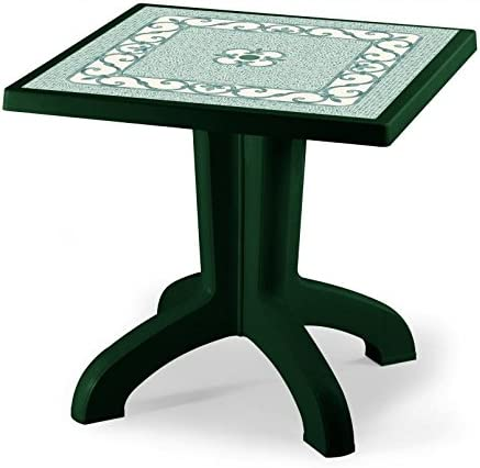 Ideapiu Mesa para Exterior Verde Bosque Piano Estampada, Mesa ...