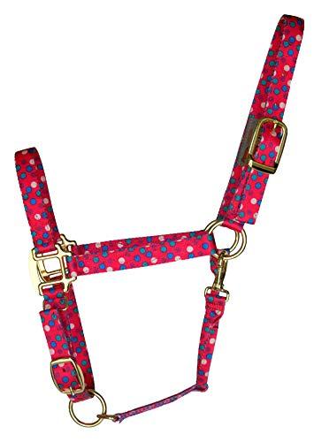 DuMOR® Premium Hot Pink Polka Dot Pattern Halter for Medium ()