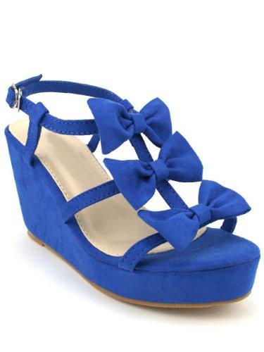 Alexia Bleu Compensée À Chaussures Roi Femme Cendriyon Sandale 1BTq4wcwZ
