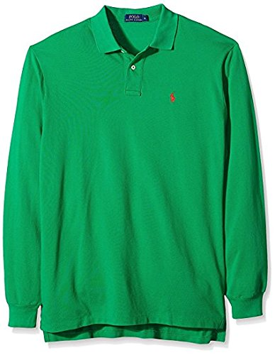 Ralph Lauren Polo en Classic Fit Longsleeve Green (L): Amazon.es ...