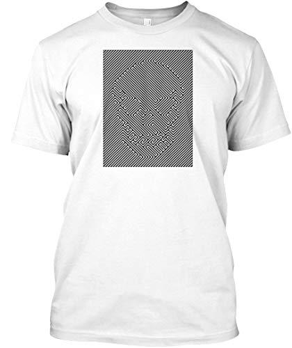 Optical Illusion Skull 2XL - White Tshirt - Hanes Tagless Tee