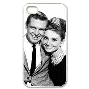 Audrey Hepburn Unique Design Cover Case with Hard Shell Protection for Iphone 4,4S Case lxa#326487
