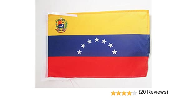 AZ FLAG Bandera de Venezuela Antigua con Escudo 45x30cm - BANDERINA VENEZUELANA con Armas 30 x 45 cm cordeles: Amazon.es: Hogar