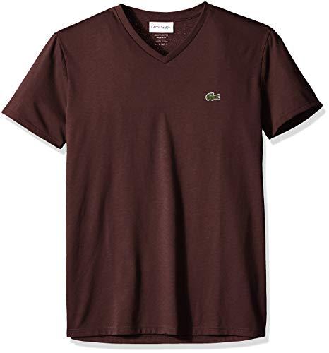 Lacoste Men's Short Sleeve V Neck Pima Jersey Shirt T-Shirt, TH6710, Vertigo, (Vertigo Cotton T-shirt)