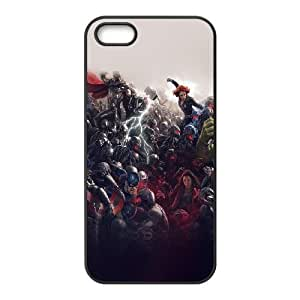 iPhone 5 5s Cell Phone Case Black al92 avengers marvel hero ultron super fight art 1 L4P6JJ