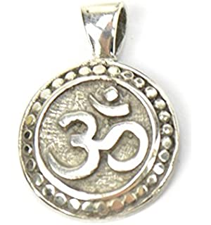 Om (Aum) Pendant Sterling Silver 925/1000Made.