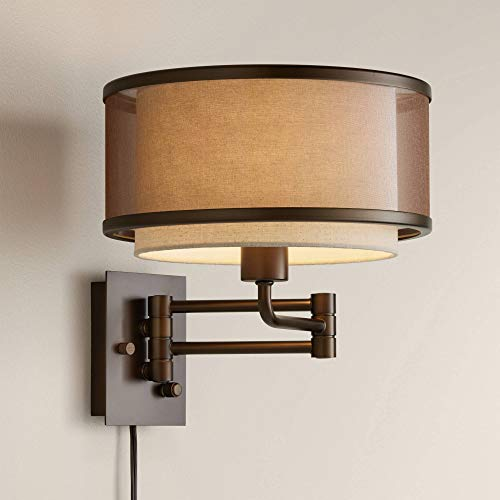 - Vista Oil-Rubbed Bronze Plug-in Swing Arm Wall Lamp - Franklin Iron Works
