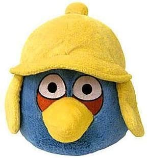 B0063M5XM4 Angry Birds WINTER 6 Inch MINI Plush Figure Blue Yellow Hat 41rVqKRr6RL.