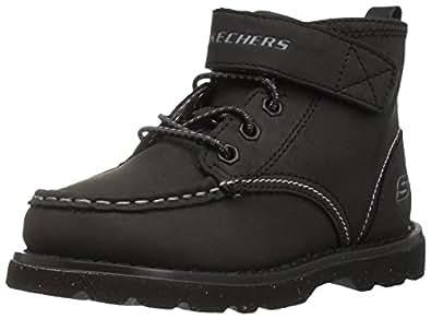 Skechers Kids Boys' Bowland Sneaker,Black,5 M US Toddler