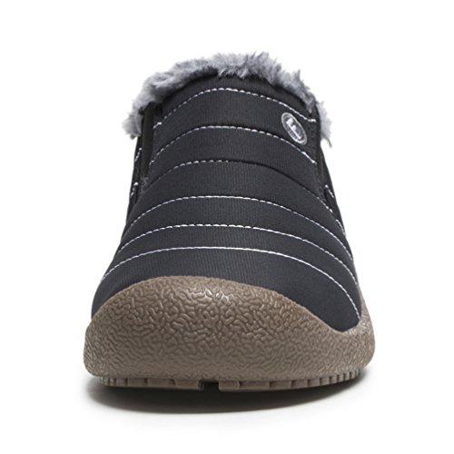 AFFINEST Winterstiefel IM Freien Warme Baumwollschuhe Stiefeletten Weich und Bequem für Männer und Frauen neutrale alte Leute schwarz-B
