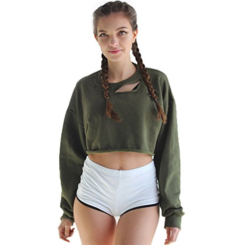 Fur Story 17A25 Femme Short Hoodies Casual Slim Pullover