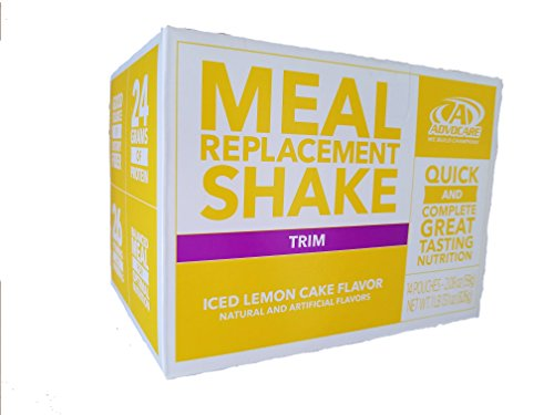 Drink Mix Cake (Advocare Meal Replacement Shake, Iced Lemon Cake, Box of 14 Single Serve Pouches AdvoCare)