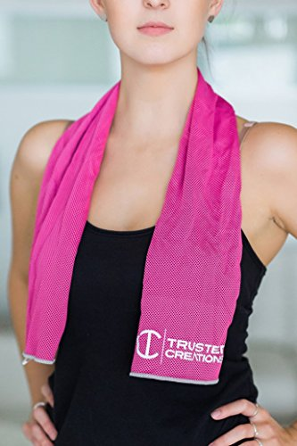 STAYKOOL Cooling Towel (Gray) - Fitness Towel - Great For Sports, Yoga, Crossfit, The Gym, Hot Flashes & More - Stays Cool Up To 2 Hours - Lightweight & Soft | Odor & Chemical Free