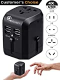 Universal USB Travel Power Adapter-Silanger All In One Wall Charger AC Power Plug Adapter For USA EU UK AUS Cell Phone Laptop Including Quad 3.5A Smart Power USB Charging Port (4X USB)