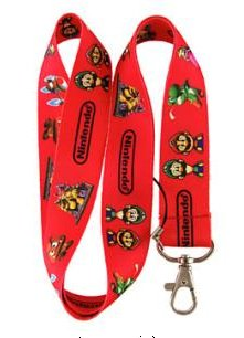 Red Super Mario Bros. Keychain - Super Lanyard Nintendo