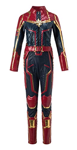 Captain Marvel Costume,Captain Marvel Cosplay,Captain Marvel Cosplay Costume Suit Full Set for Women -