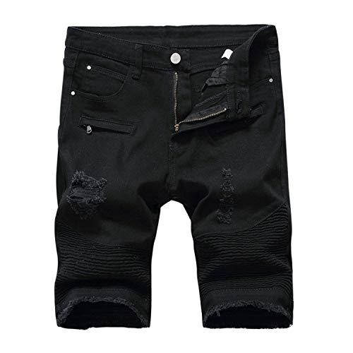 Skinny Stretch Jeans Destruido Denim Slim Fit Mezclilla Con Clásico Cortos Shorts look 1 Usados Verano White Pantalones Chern De Agujeros Para Chicos Hombres g0XYUq