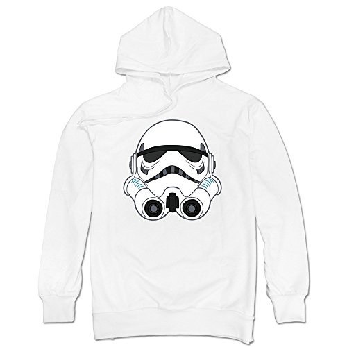 Sasha Men's Wars Imperial Trooper Helmet Sweatshirt White S
