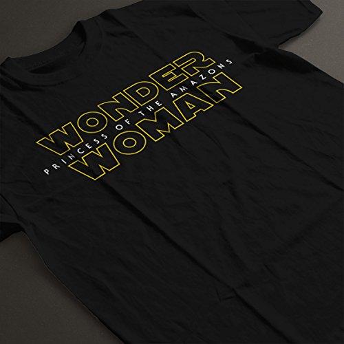 Wonder Woman Star Wars Logo Women's T-Shirt Black