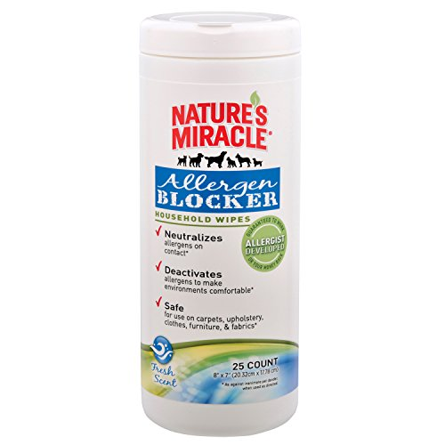 Nature's Miracle Allergen Blocker Household Wipes 25ct ()