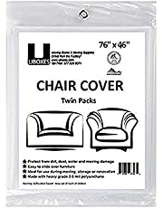 Uboxes Set of 2 (72x46) Chair Covers 2 MIL Heavy Duty Polyethylene to Protect Items from Dust Dirt and Spills