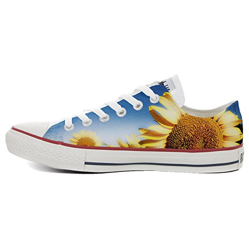 Star Handwerk personalisierte Sonnenblume Schuhe Shoes Customized Schuhe Low Make Converse All Your Slim wI1Tq1