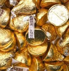 Hershey's Kisses Creamy Milk Chocolate Gold Wrapping 4 Pounds (Warm Weather Packaging)