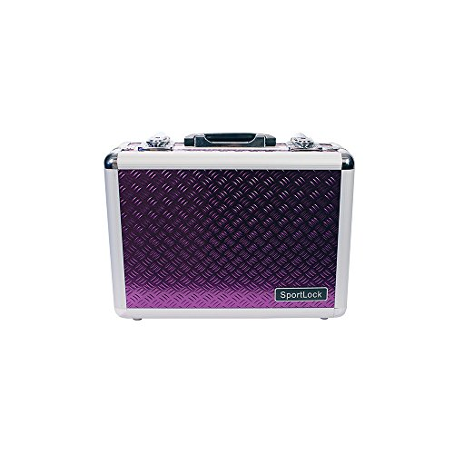 SportLock Cases AlumaLock Double Handgun Case, Purple, Small