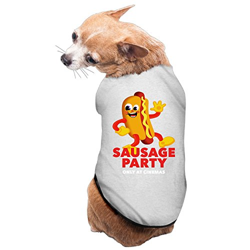 Causal Sausage Party Sausage Q1 Pet Dog 100% Fleece Vest T Shirt Gray US Size L