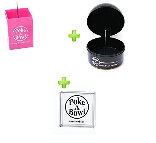 Ashtray Gift Set - Poke A Bowl Ashtray Dynamic Duo Gift Set (Bubblegum Pink)