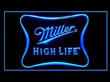 Amazon miller high life beer bar led light sign home kitchen miller high life beer bar led light sign aloadofball Choice Image