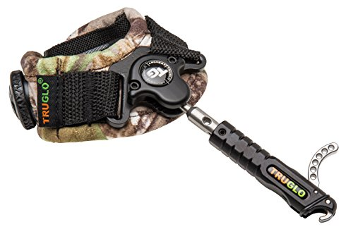 TRUGLO DETONATOR Ultra-Smooth Single Jaw Archery Release, Realtree APG Camo BOA Strap, Side-Lock Connection ()