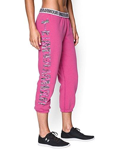 Under Armour Women's UA Fleece Capri, Rebel Pink/Luna Peach, LG (US 12-14) X 22 by Under Armour (Image #4)