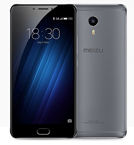 Original Meizu M3 Max Meilan Mobile Phone MTK Helio P10 Octa Core 6.0-inch 1920x1080 3GB RAM 64GB ROM 13MP Camera Fingerprint ID (gray)