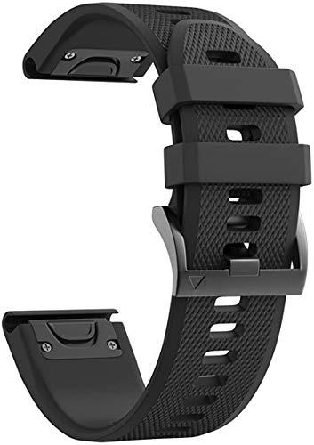 Malla para Fenix 5S 20 mm /Fenix 5S Plus/Fenix 6S Pro Negra