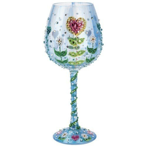 ''Mother's Garden'' Super Bling Wine Glass By Lolita