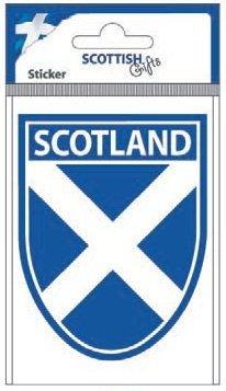 (stickyrico1 Scottish Gifts - Scottish Car Sticker - Scotland Flag - Saltire - Shield - UK Gifts)
