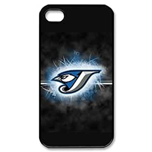 MLB iPhone 4,4S White Toronto Blue Jays cell phone cases&Gift Holiday&Christmas Gifts NADL7B8824158